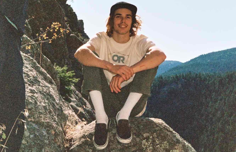 Sean Bailey relaxes on a day of sport climbing.