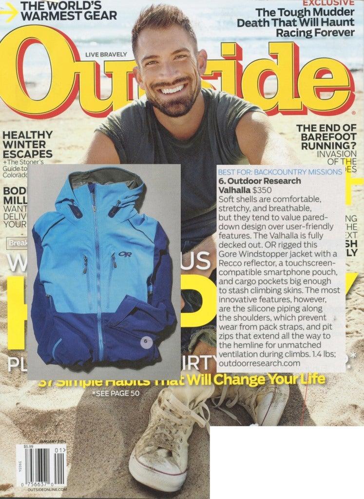 Outside Magazine reviews the Valhalla Jacket