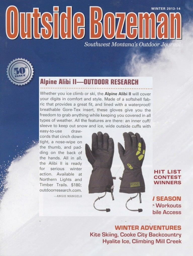 Outside Bozeman Magazine reviews the Alpine Alibi II Ice Climbing Gloves