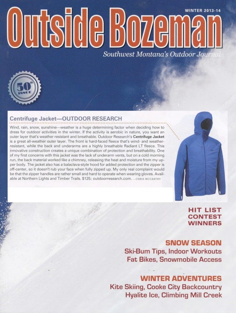 Outside Bozeman Magazine reviews the Centrifuge Jacket