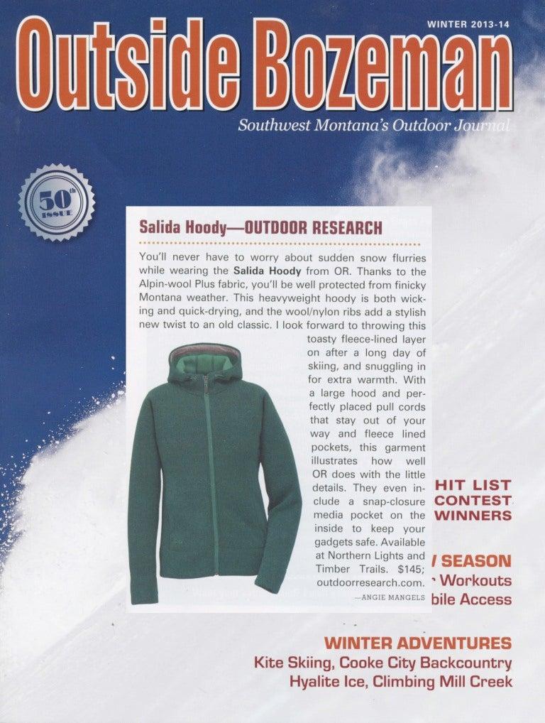 Outside Bozeman Magazine reviews the Salida Hoody