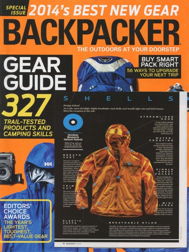 Backpacker Magazine reviews the Helium Hybrid Jacket