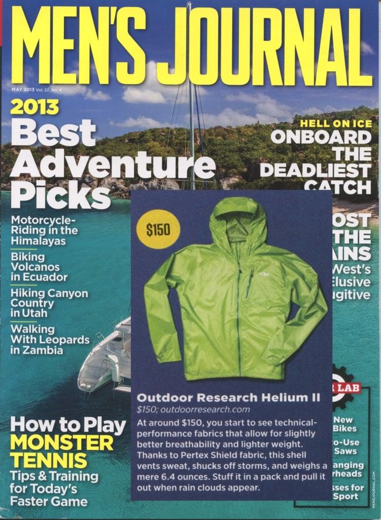 Men's Journal reviews the waterproof, breathable Helium II Jacket