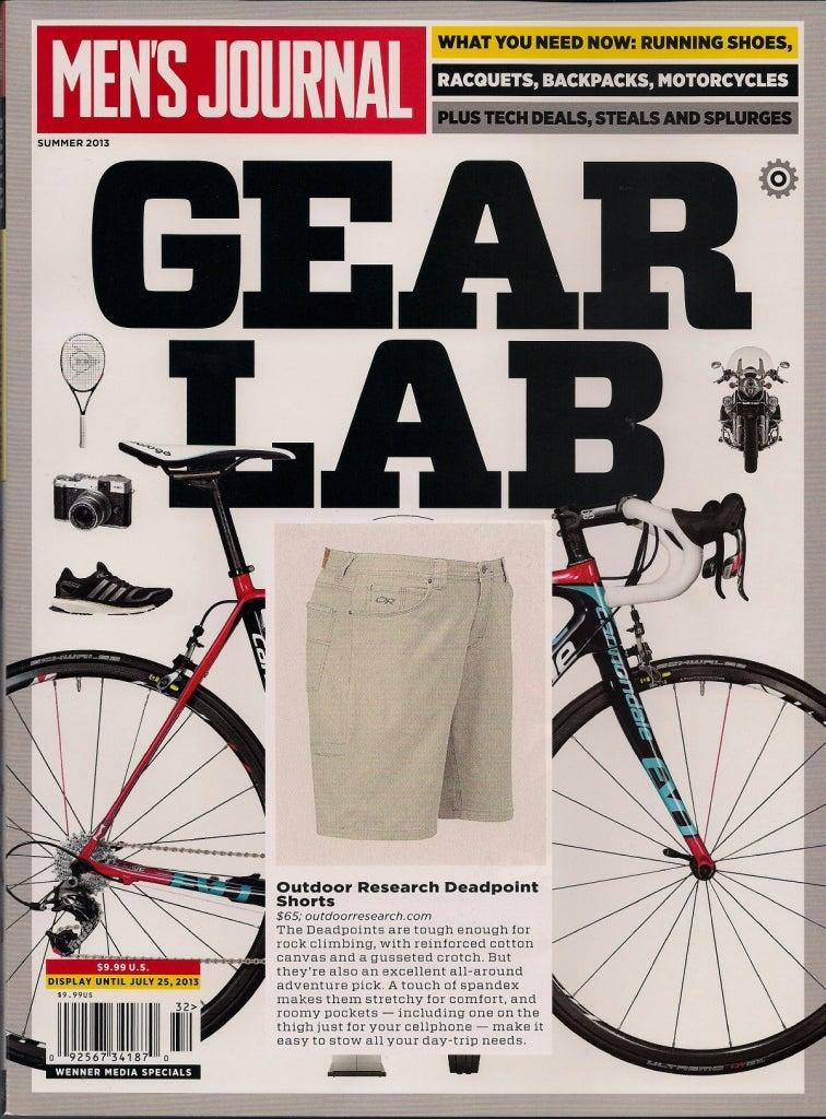 "Men's Journal Magazine calls the Deadpoint Shorts an ""excellent all-around adventure pick."""