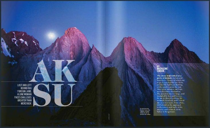 Partnership And Adventure In The Ak Su, Kyrgyzstan