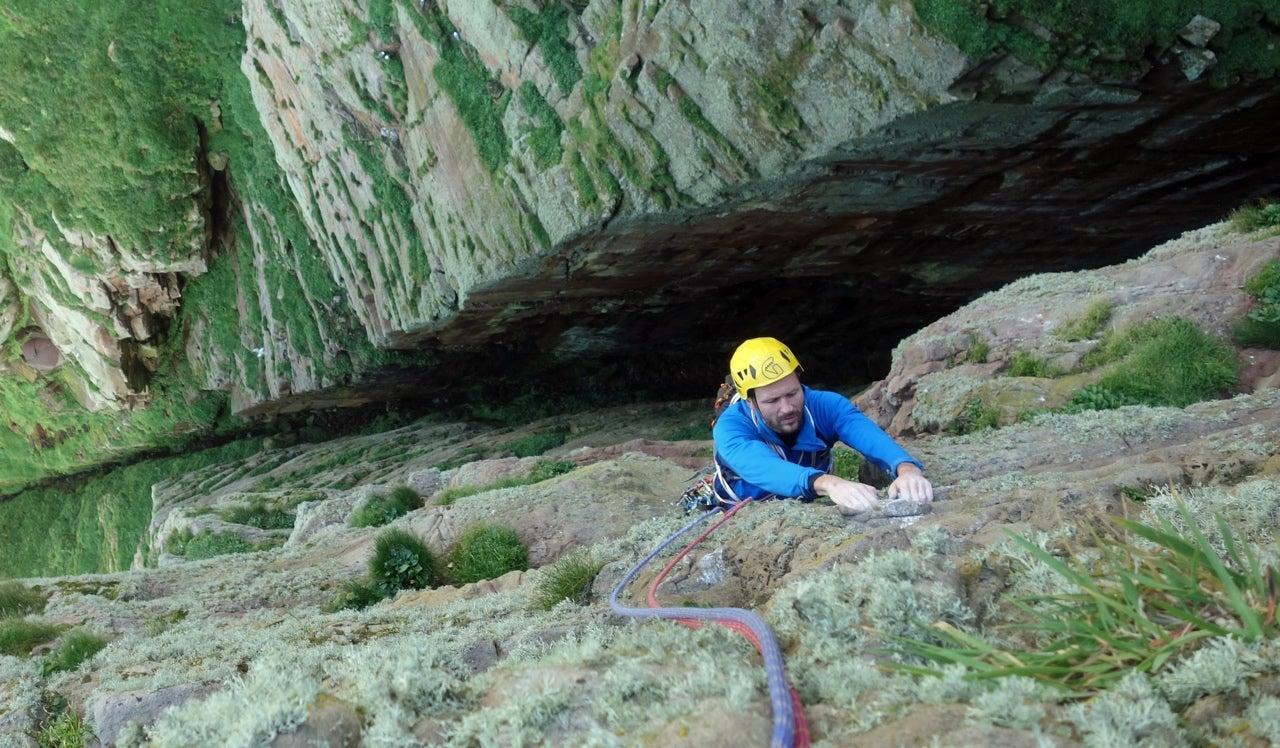 Free Climbing The UK's Tallest Sea Cliff