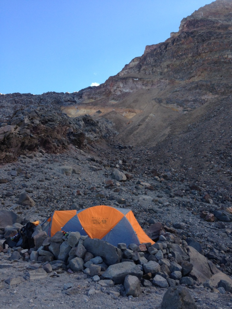 Camp 2, just below