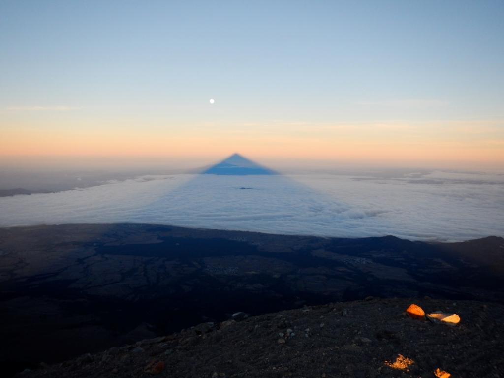 The view from the Pico de Orizaba at sunrise