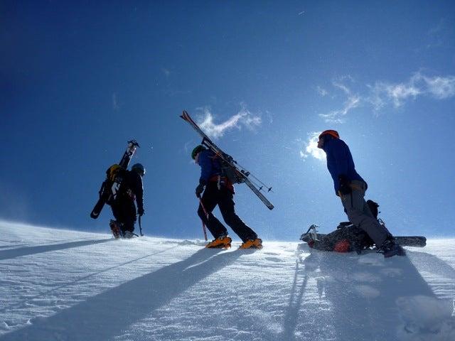 Skiing the Tetons