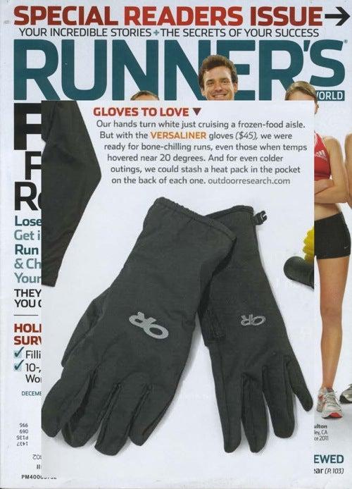 Runner's World picks Versaliner gloves for cold-weather running