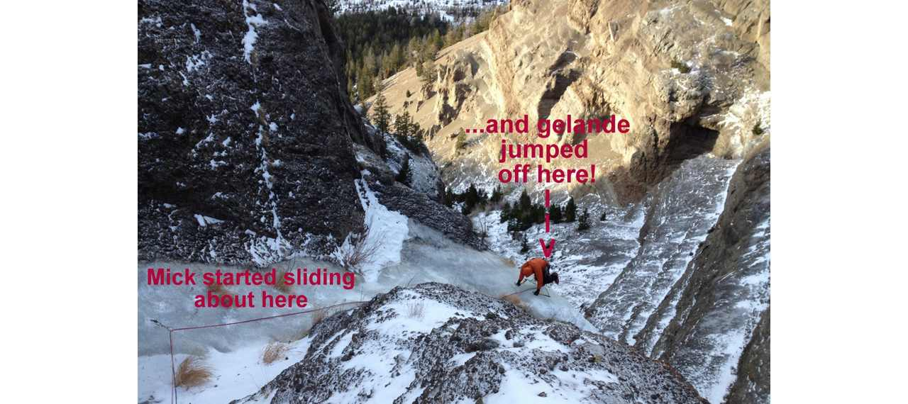 Surviving An 80-Foot Whipper — On Ice