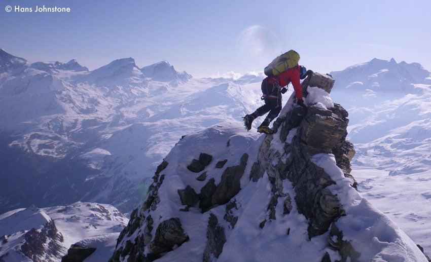 Hans Johnstone Hits the Alps