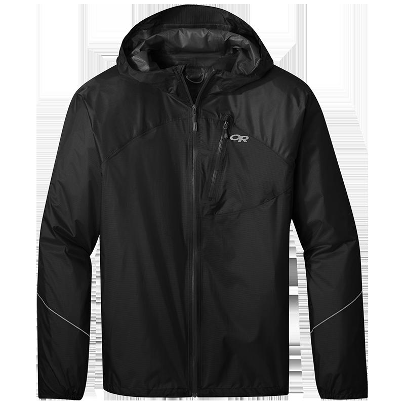 Men's Helium Rain Jacket in Black