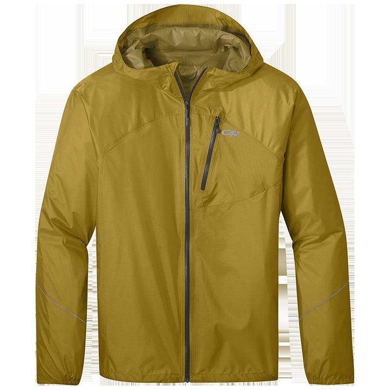 Men's Helium Rain Jacket in Lichen yellow