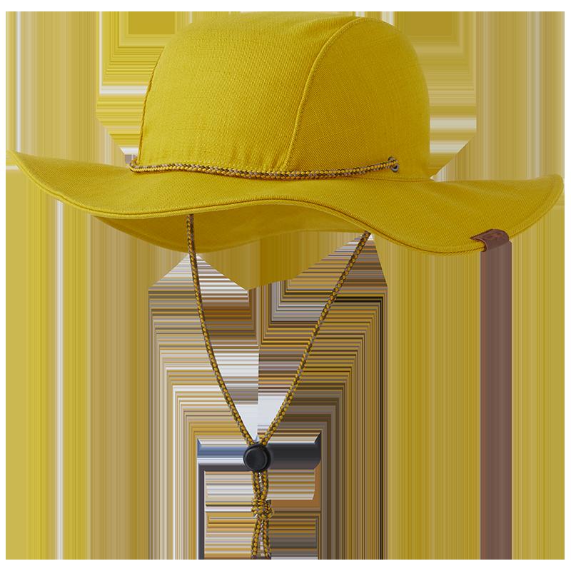 Beeswax Yellow Wide Brim Women's Saguaro Sun Hat with chin strap