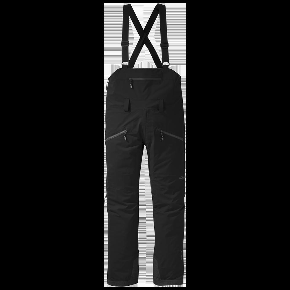 Men's Hemispheres Ski Bibs in Black