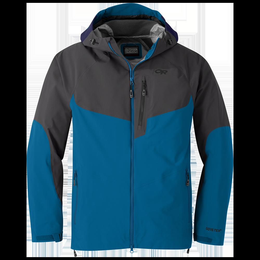 Men's Hemispheres Jacket in Cascade Blue/Storm Grey